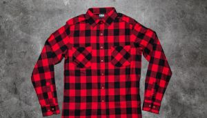 Urban Classics Checked Flanell Shirt Black/ Red L