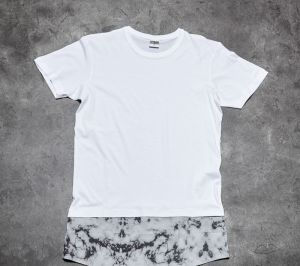 Urban Classic Long Shaped Marble Tee White S