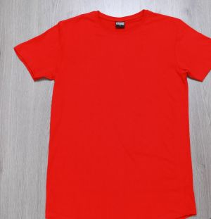 Urban Classics Shaped Long Tee Fire Red S