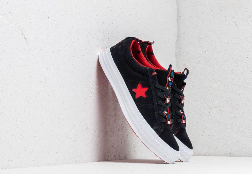 37cba182a Converse x Hello Kitty One Star OX Black/ Fiery Red/ White značky ...