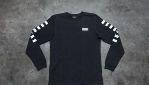 Carhartt WIP Long Sleeve State T-shirt Black/ White L