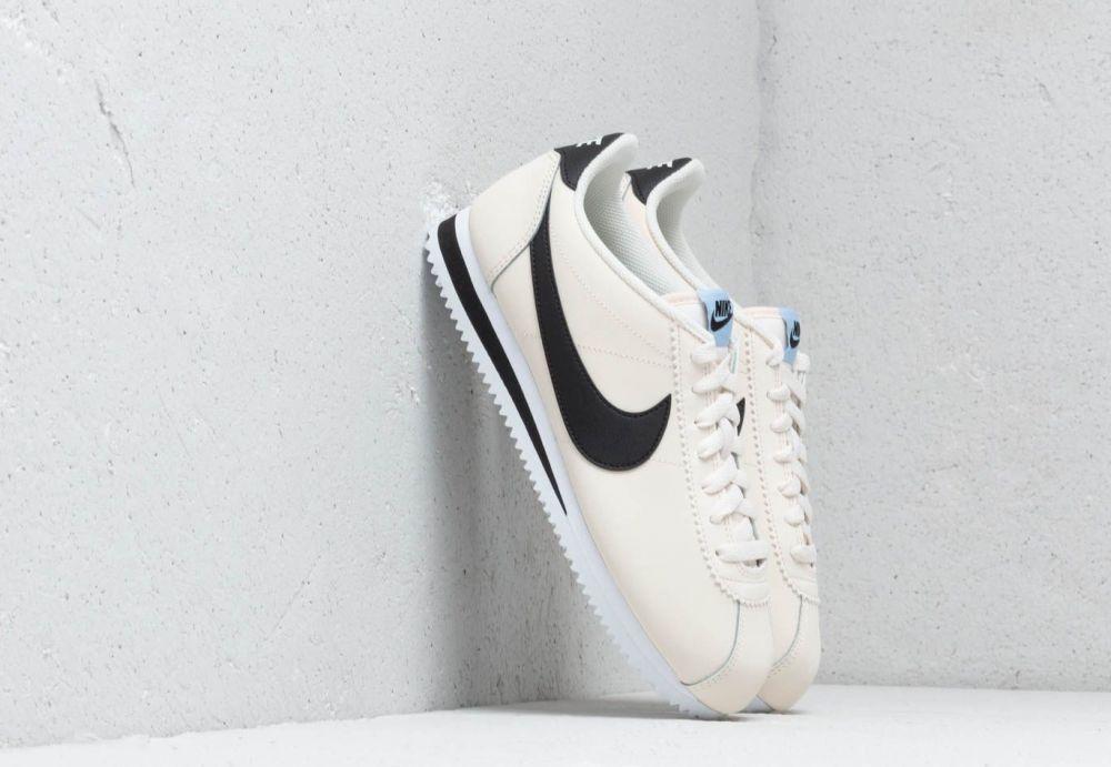 bd43fe45f10af Nike Wmns Classic Cortez Leather Pale Ivory/ Black-Aluminum-White ...