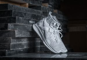 Puma Wn's Ignite evoKNIT White-Quarry-Vaporous Gray US 6.5