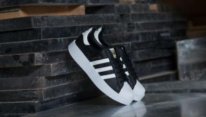 adidas Superstar Bold W Core Black/ Ftw White/ Gold Metallic US 5.5