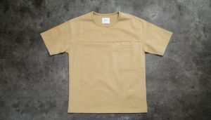 STAMPD Hillside Elongated Pocket Shirt Tee Camel S