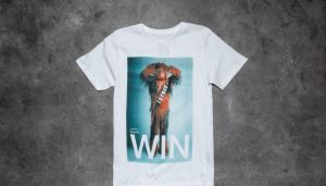 Dedicated x Star Wars Chewbacca Win T-Shirt White XL
