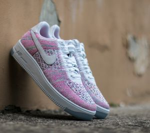 Nike Air Force 1 Flyknit Low White/ White-Radiant Emerald EUR 36