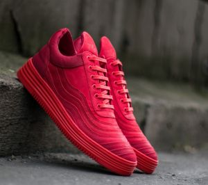 Filling Pieces Low Top Wavy Red US 8.5