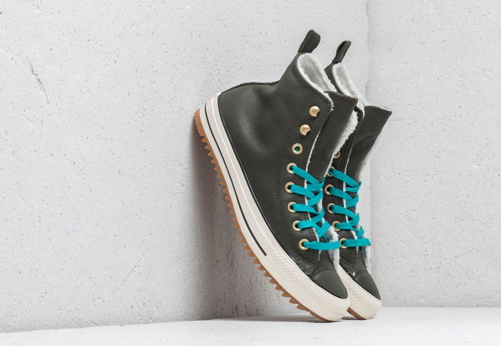 411f0821d8cf6 Converse Chuck Taylor All Stars Hiker Boot High Utility Green/ Rapid Teal