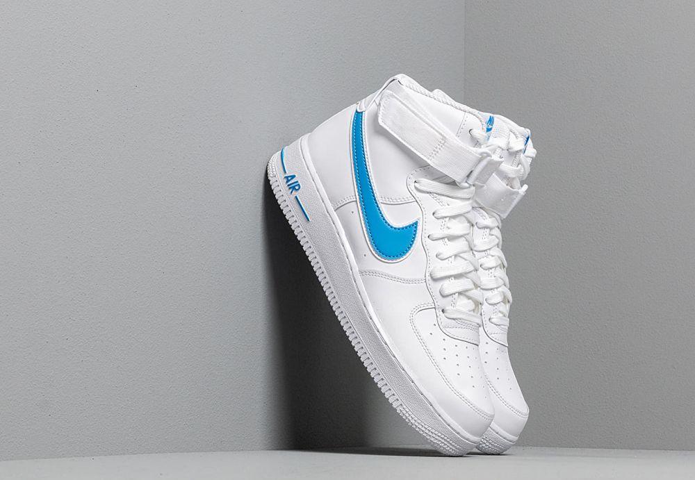 Nike Air Force 1 High '07 3 White White Photo Blue značky