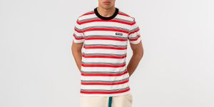 Alexandre Mattiussi Ami Paris Patch Tee White/ Red