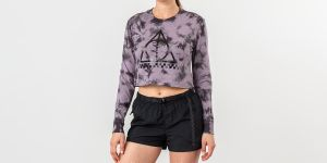 Vans x Harry Potter Deathly Hallows Longsleeve Crop Tee Purple/ Black
