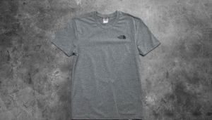 The North Face M Short Sleeve Simple Dome Tee Medium Heather Grey L