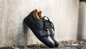 Marco Laganà Sneaker Strap Black Leather - Black Sole US 5