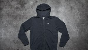 Vans Core Basics Zip Hoodie Black Heather XL