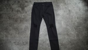 STAMPD Essential Knee Split Denim Jeans Black 32