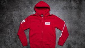 Thrasher Boxed Logo Zip Hood Red XL