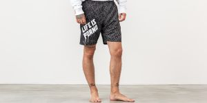 Life Is Porno Wallpaper Boardshorts Black