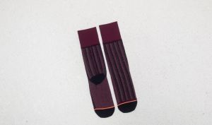 Stance Stripe Down Merlot