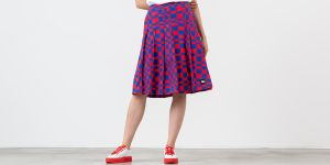 Stüssy Sabi Checker Pleated Skirt Red/ Blue