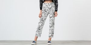 Lazy Oaf Drawn Out Jeans White/ Black