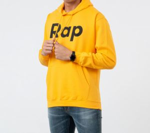 RAP Hoodie Orange/ Black