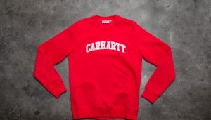 Carhartt WIP Yale Sweat Chili/ White S