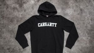 Carhartt WIP Hooded College Sweat Black/ White M
