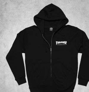 Thrasher Magazine Logo Zip Hood Black  S