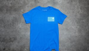 Pink Dolphin Flag Tee Blue S