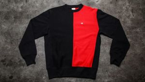 Champion Reverse Weave Crewneck Sweatshirt Navy/ Red XL
