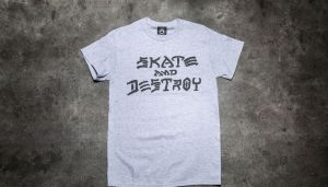 Thrasher Skate And Destroy T-Shirt Gray S
