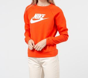 Nike Sportswear Essential Hybrid Crewneck Team Orange/ White