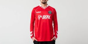Hummel x 424 II Fairfax Jersey Long Sleeve Tee True Red