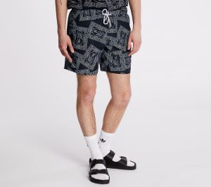 LACOSTE Postcard Print Quick Dry Swim Trunks Navy