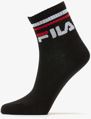 FILA Calza Quarter 3Pack Socks Black