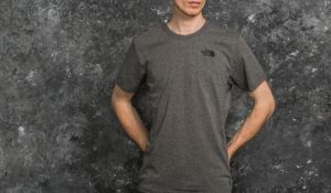 The North Face Shortsleeve Red Box Tee Medium Grey Hetaher M