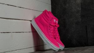 Vans Sk8-Hi Zip (Neon Canvas) Pink/ True White EUR 32