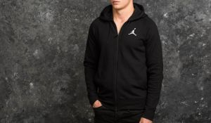 Jordan Flight Lite Hoodie Black/ White S