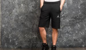 Jordan Flight Lite Fitted Short Black/ White S