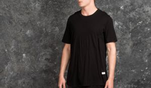 STAMPD Double Layer Scallop Tee Black S