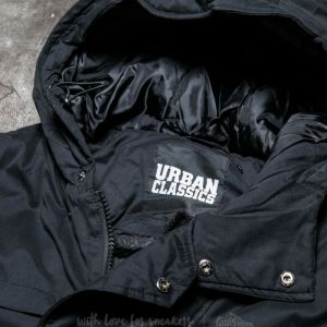 Urban Classics Cotton Peached Canvas Parka Black
