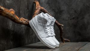 Air Jordan 1 Mid White/ Pure Platinum/ White EUR 40