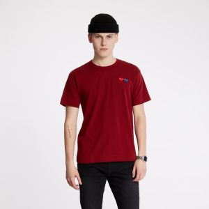 Comme des Garcons PLAY Tee Dark Red