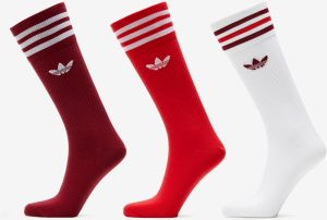 adidas Solid Crew Socks 3 Pairs Purple/ Red/ White