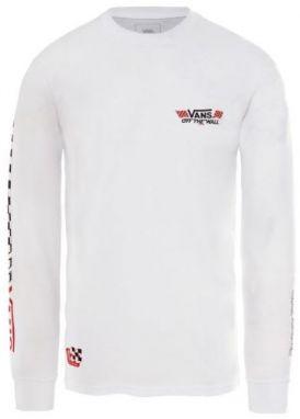 Čierno-biele pánske tričko s 3 4 rukávmi Vans Raglan značky Vans ... 3703182189b