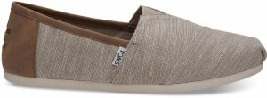 Toms Oxford Tan Chambray Trim Alpargatas tenisky