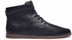 Clae Hamilton Black Milled Tumbled Leather tenisky