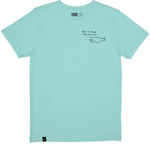 Dedicated T-shirt Stockholm You Fucked The Oceans Blue Tint tenisky
