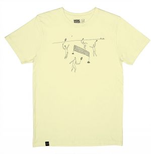 Dedicated T-shirt Stockholm Badminton Pale Yellow tenisky